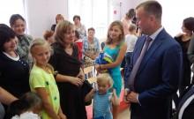 На открытии детского сада в Осе