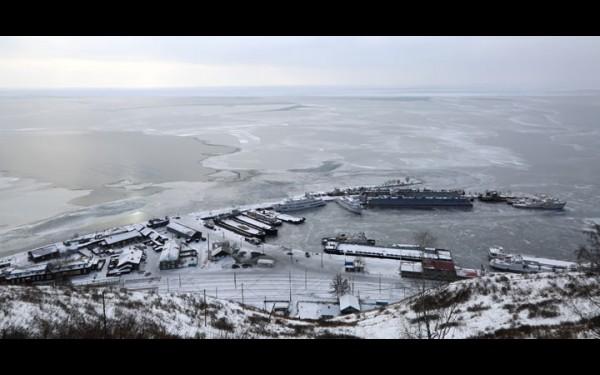Пристань в Порту Байкал с высоты птичьего полета.