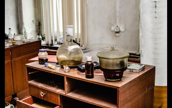Все, что осталось от лаборатории, где определяли состав продукции