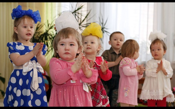 Для гостей малыши устроили концерт