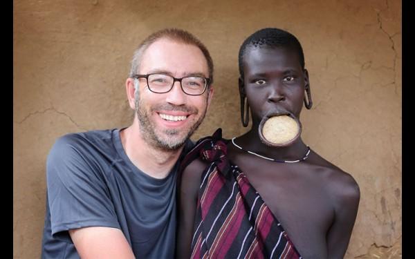 Александр Химушин с девушкой из Эфиопии