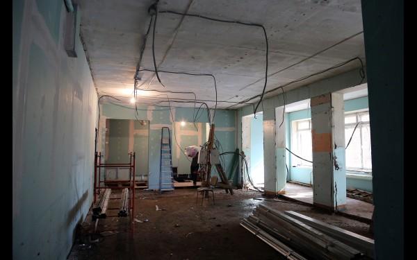 После первой волны наводнения в школе начался капитальный ремонт