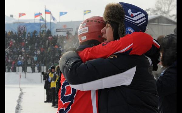 Ильяс Хандаев после победы нашей сборной