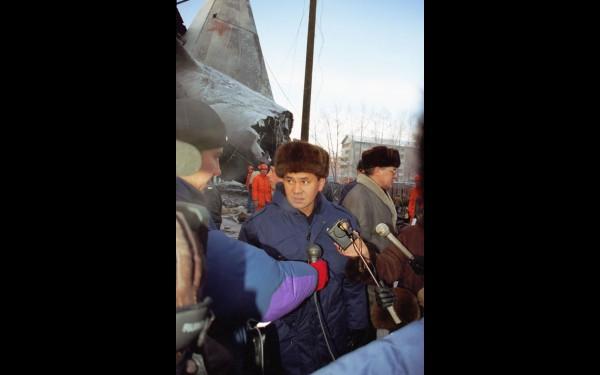 Сергей Шойгу: интервью на месте катастрофы