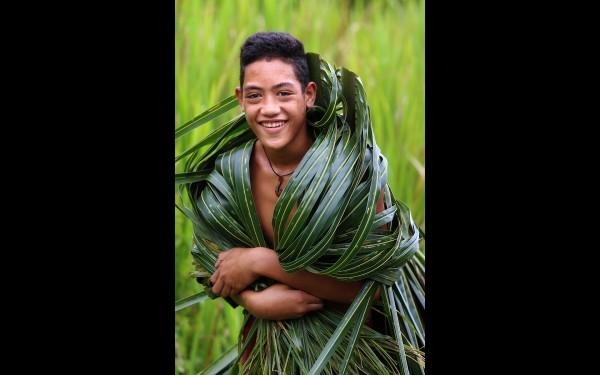 Самоанский мальчик. Фото сделано  на острове Савайи (Самоа)
