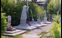 Памятники на захоронении летчиков-перегонщиков в Киренске.