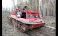 Самым комфортным средством передвижения в северных лесах Приангарья является гусеничный вездеход