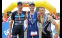 Триумфаторы главного забега (заплыва, заезда) у мужчин: Александр Улитин, Дмитрий Башун и Пётр Дейкин (слева направо)