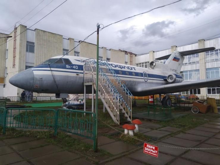 Як-40 в детском парке в Усть-Илимске. 2019 г.