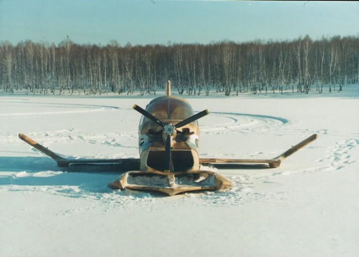 Экраноплан «Байкал-2». Вид спереди. Фото 1995 г.