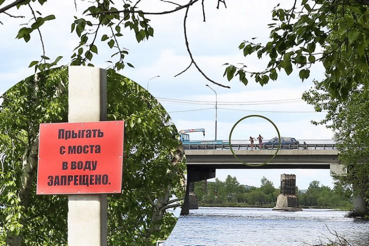 Прыгунам с моста (на фото) запрет совсем не мешает.