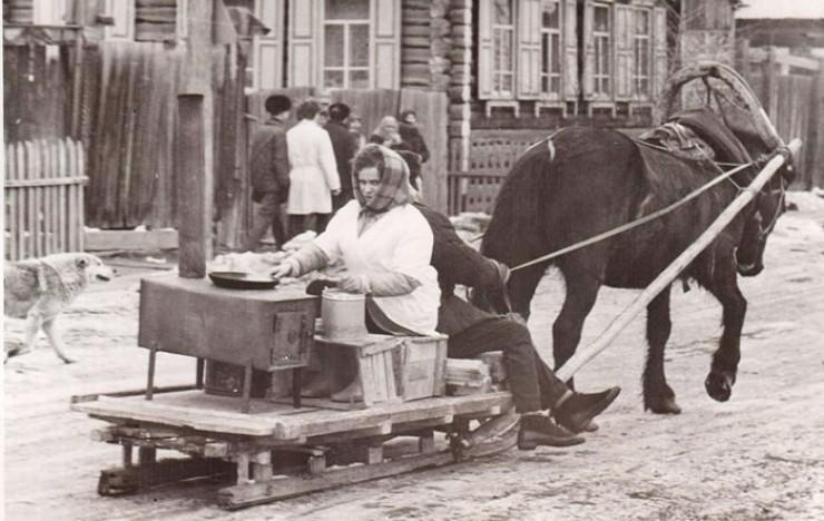 Проводы русской зимы. Село Кежма, 1972 год