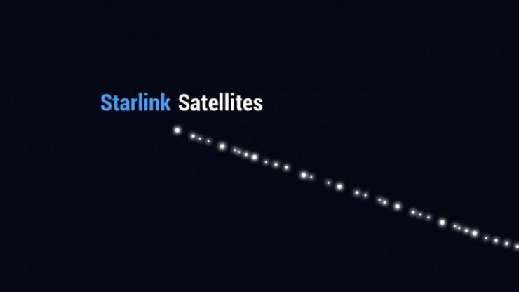 Каждый спутник Starlink имеет размер офисного стола и вес 227 кг, оснащен одной солнечной панелью и антенной для передачи данных на Землю и обратно.