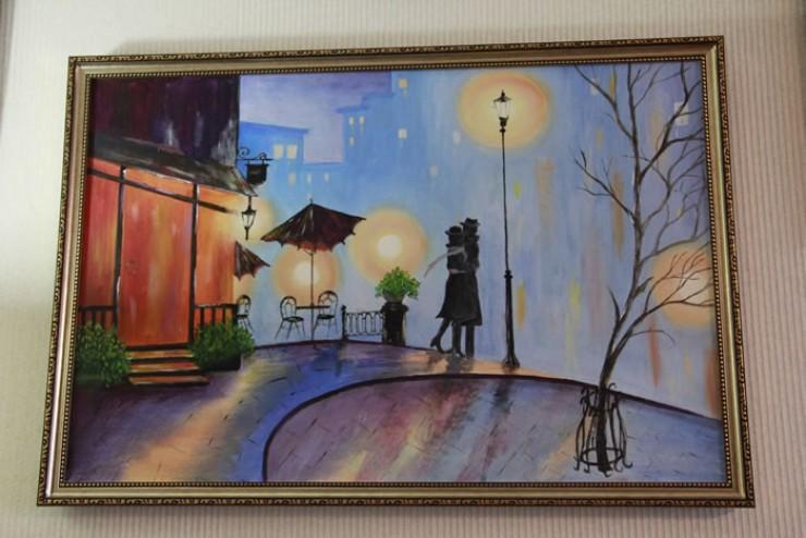 Мастер-класс по созданию этюда «Влюблённые  в Париже» можно легко найти в Интернете