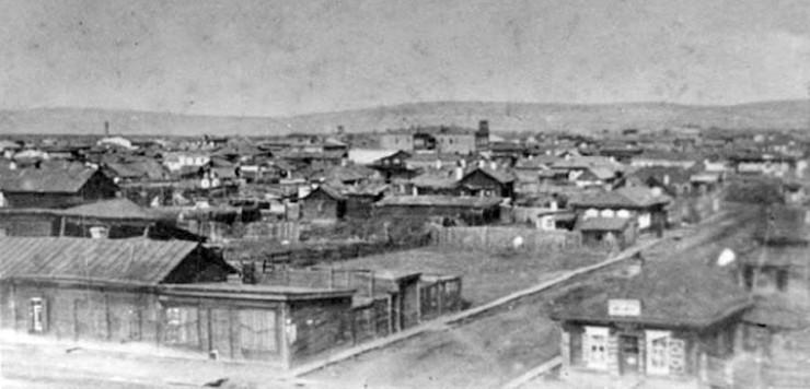 Вид станционного Иннокентьевского поселка (ныне Иркутск II), начало ХХ века.