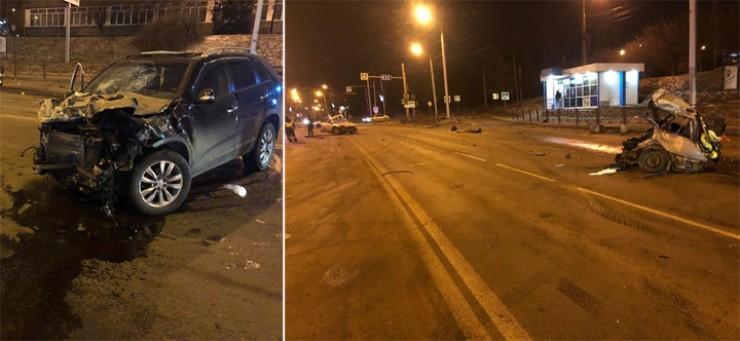 Удар был такой силы, что «Субару» буквально разорвало на две части, которые разлетелись на десятки метров. 24-летний водитель погиб на месте.