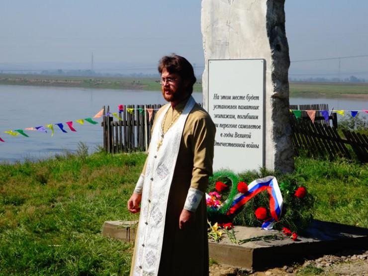 Освящение памятной закладки 20 августа 2016 года на месте будущего памятника.