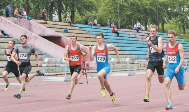 Финиш спринтерского забега