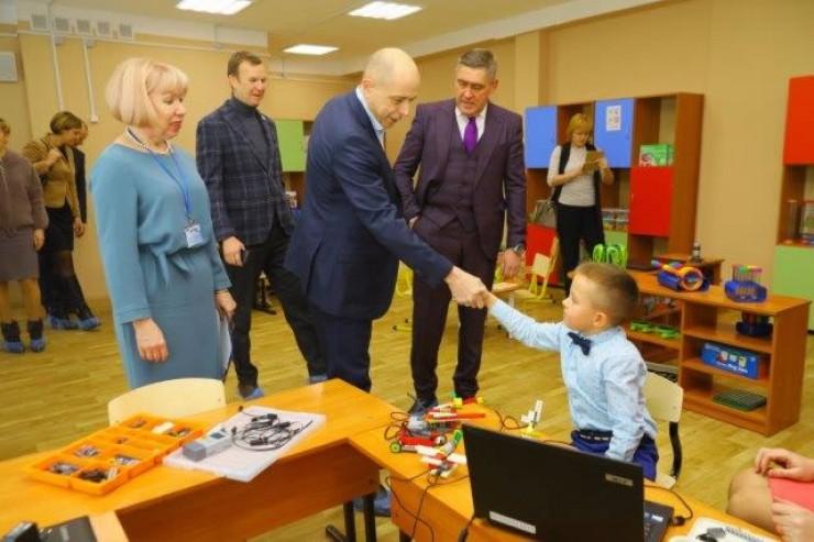 Председатель Заксобрания Сергей Сокол открыл  в Черемхово школу-сад № 1 после капитального ремонта