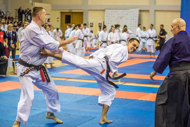 Удачная атака одного из лидеров иркутского традиционного карате Данила Ашурова, занявшего на чемпионате Европы-2019 второе место