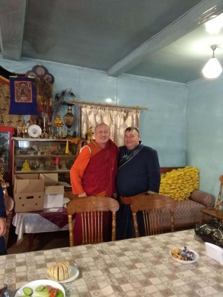Встреча Анатолия Прокопьева с с Хамбо-ламой Дамбой Аюшеевым длилась больше двух часов