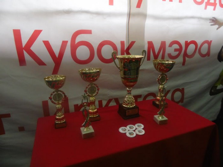 Вот такие награды вручали лучшим командам. Главный приз — Кубок мэра Иркутска. В этом году он достался физкультурникам из Правобережного округа
