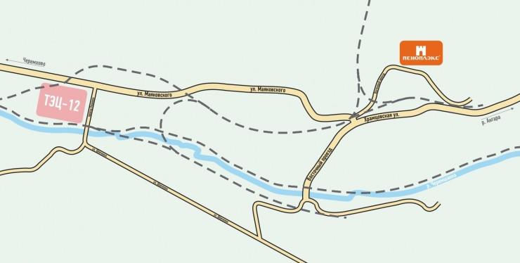 Схема проезда в Черемхово