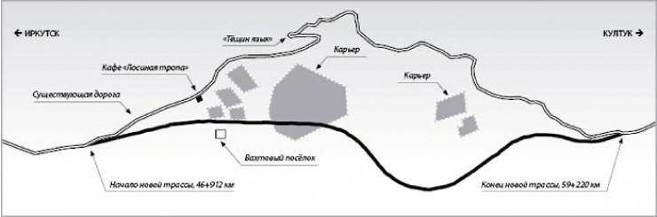 Схема новой дороги