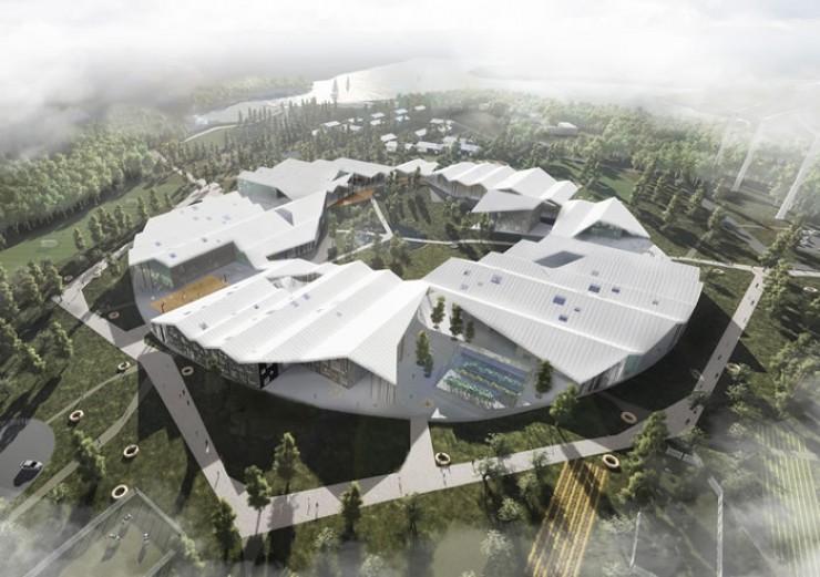 Так космически будет выглядеть «Умная школа». И это не где-то в Москве, а у нас в Иркутске, рядом с Чертугеевским заливом. Создатели проекта уверены, что если уж строить новое здание, то так, чтобы оно помогало современному образованию. Поэтому внем будет огромное количество мастерских, театр, спортивные площадки, бассейн, танцевальные классы, медиалаборатория. Открытие «Умной школы» запланировано на 1 сентября 2019 года