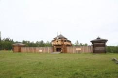 Воссозданный Братский острог в музее «Ангарская деревня».