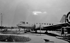 Самолет Ил-14 на острове Юность в Иркутске. 1960-е гг.
