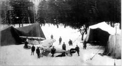 Аэродром 2-го авиаотряда 1-й Советской авиагруппы у ст. Мелекес на Урале. 1918—1919-е годы.