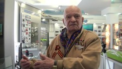 Абрам Наумович Файтельсон в Музее истории Иркутского аэропорта