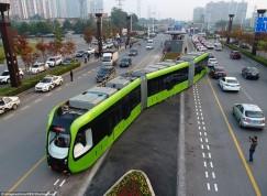 Безрельсовый трамвай в Чжучжоу.