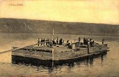 Для реки карбас имел внушительные размеры, его длина составляла 17 метров, ширина 7