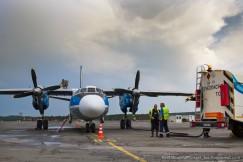 Сейчас для самолета-зондировщика Ан-26 есть новый фронт работ — на севере Иркутской области прогнозируются мощные кучевые облака. Расстреляв их, можно вызвать хорошие искусственные ливни для тушения лесных пожаров в Бодайбинском, Мамско-Чуйском и Казачинско-Ленском районах.