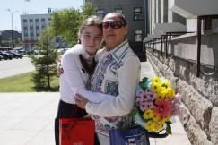 Арина Мокина со своим тренером  Полиной Рогачёвой