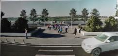 А вот так новый сквер на бульваре Гагарина в Иркутске будет выглядеть уже через пару месяцев. Здесь будут лавочки в виде гребенки, прозрачные навесы — пергола с качелями для детей и взрослых, фонари, а также дополнительное озеленение, клумбы и газоны.  По плану подрядчик должен завершить благоустройство к 15 октября