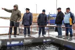 Виктор Рахвалов (первый слева) устроил зарубежным коллегам обзорную экскурсию по своему рыбоводному хозяйству