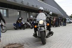 Двигаясь от объездной дороги Ново-Ленино, колонна из мотоциклистов растянулась почти на километр.