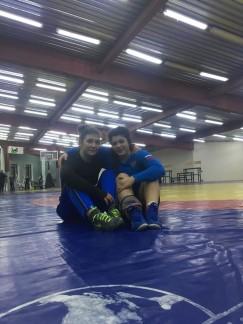 Люда Дуденкова (слева) и Тамара Митиненко — члены юниорской сборной России