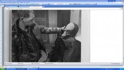 Сергей Струнчинский на следственном эксперименте, проведённом до его гибели, показывает, как именно егопытали полицейские