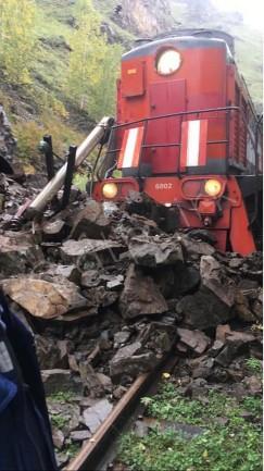 Из-за проливных дождей 14 сентября на Кругобайкальской железной дороге произошел камнепад: на 78-м километре камни обрушились на туристический поезд. К счастью, никто не пострадал. Пассажиров отправили водным транспортом до Листвянки и далее в Иркутск. Сейчас движение на КБЖД перекрыто — пока до 20 сентября.
