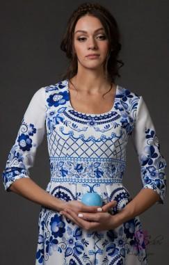 Одна из успешных за рубежом модных коллекций Jane Scher — «Волшебство Гжель»